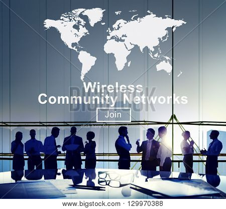 Wireless Community Networks Connection Globalization Technology Concept