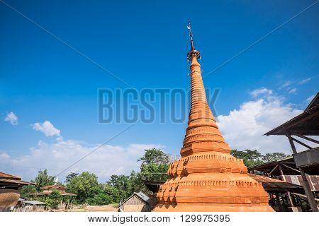 Indein Village Pagoda, Inle Lake, Myanmar