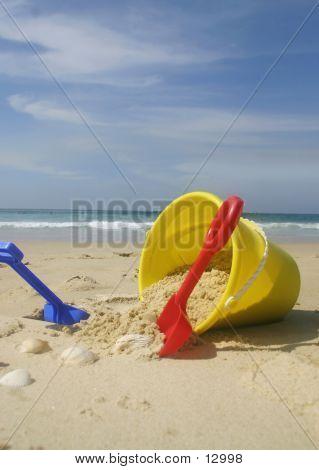 Beach Bucket And Spades