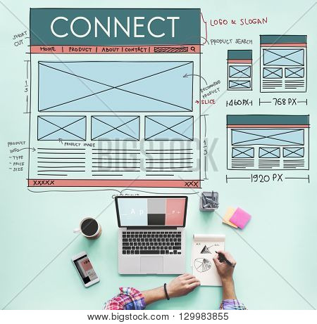 Browse Browser Connect Internet Layout Concept