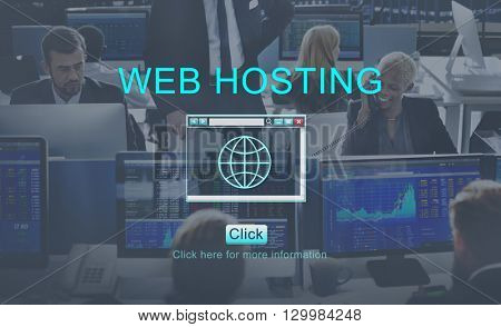 Web Hosting Browsing Digital Internet Concept