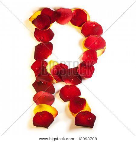 Rose petal letter