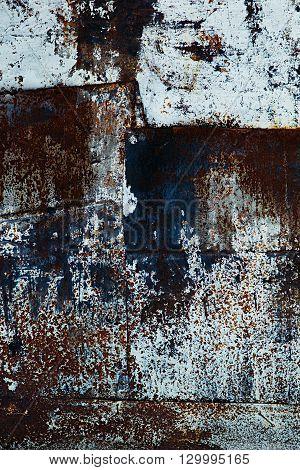 Texture of rusty metal. Vintage dark rusty background.