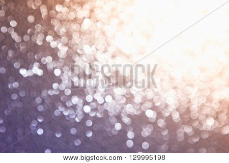 Abstract blurred background. Golden and lilac background. Bokeh.