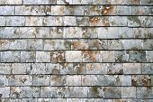 old british weathered gray roof slates background. poster