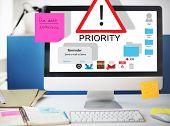 Priority Reminder Remind Agenda Prioritize Concept  poster