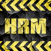 hrm, black and yellow rough hazard stripes poster