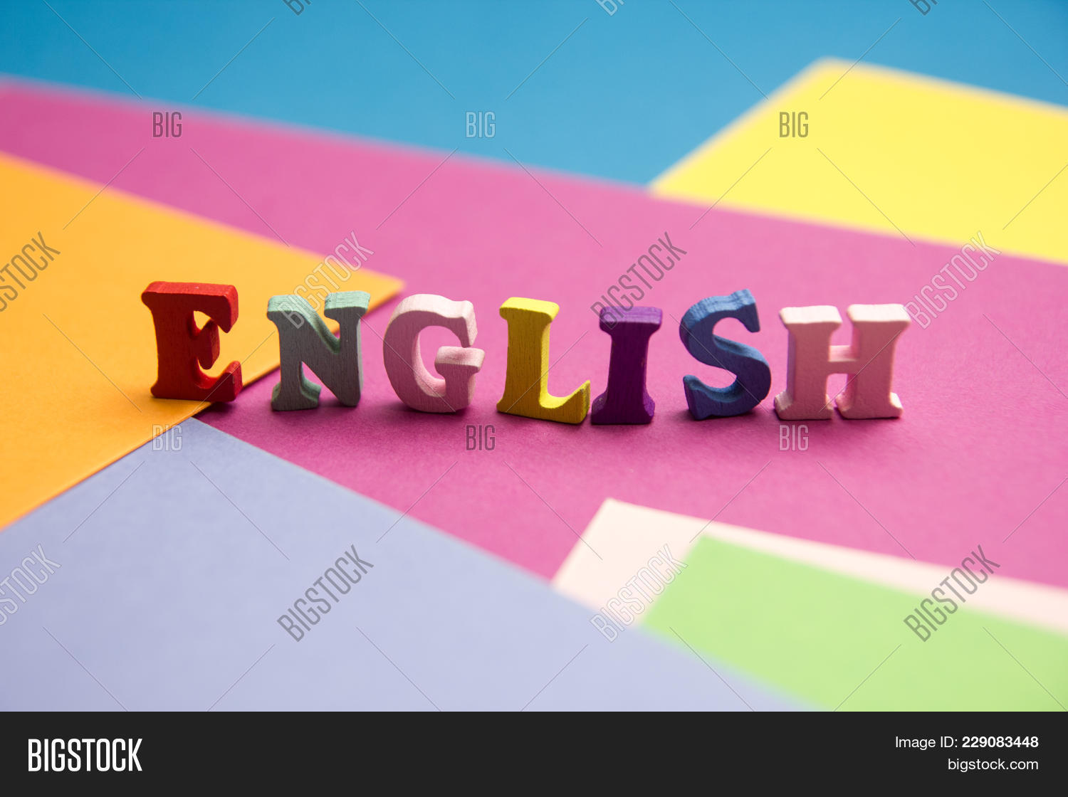 English Word Composed Image & Photo (Free Trial) | Bigstock