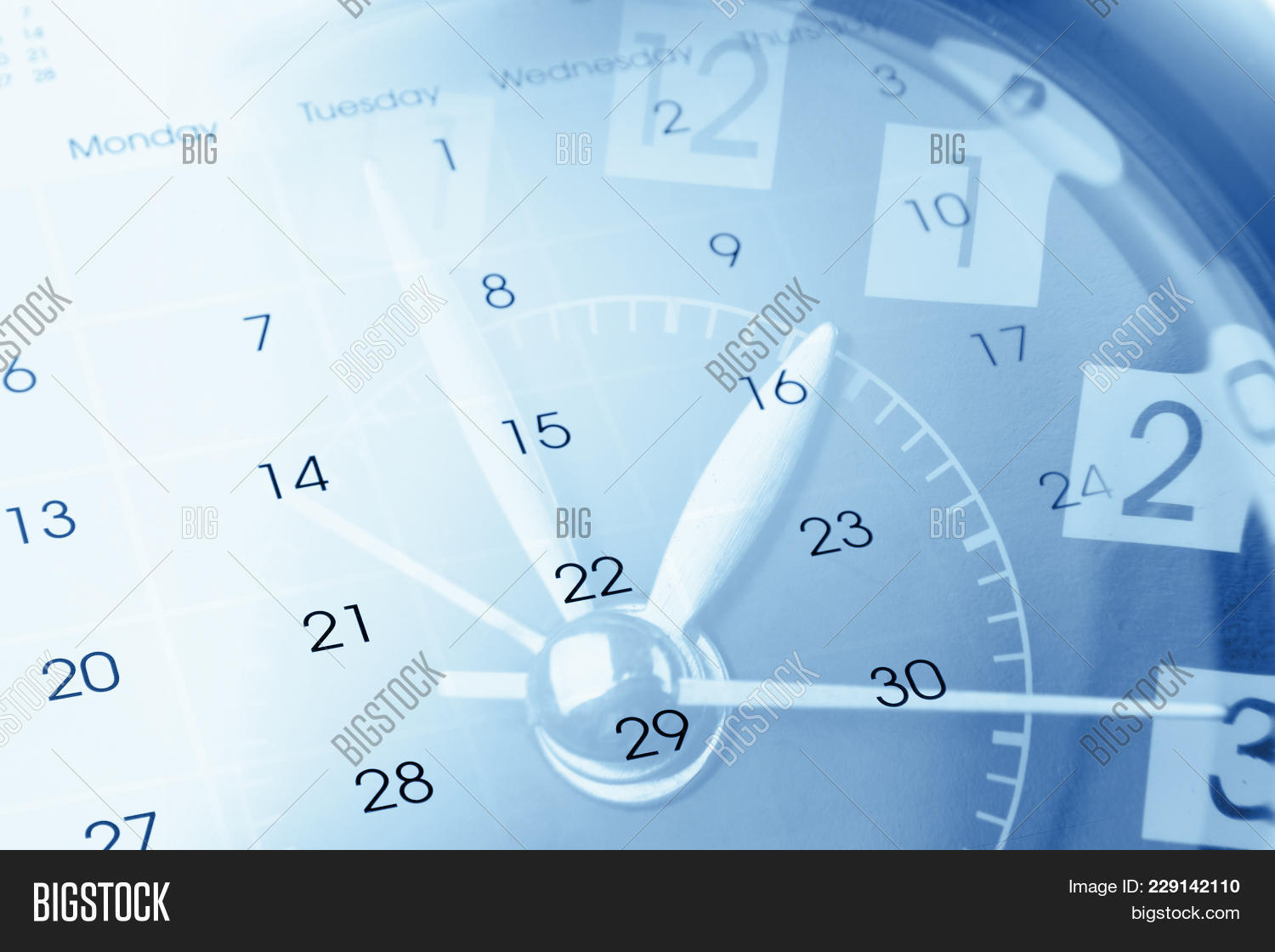 clock face and calendar powerpoint template clock face and
