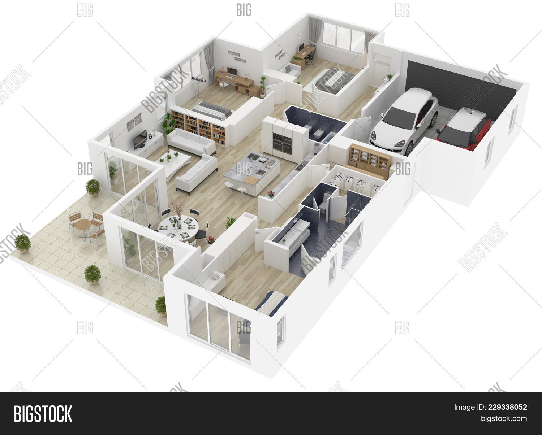 Floor Plan House Top Image Photo Free Trial Bigstock