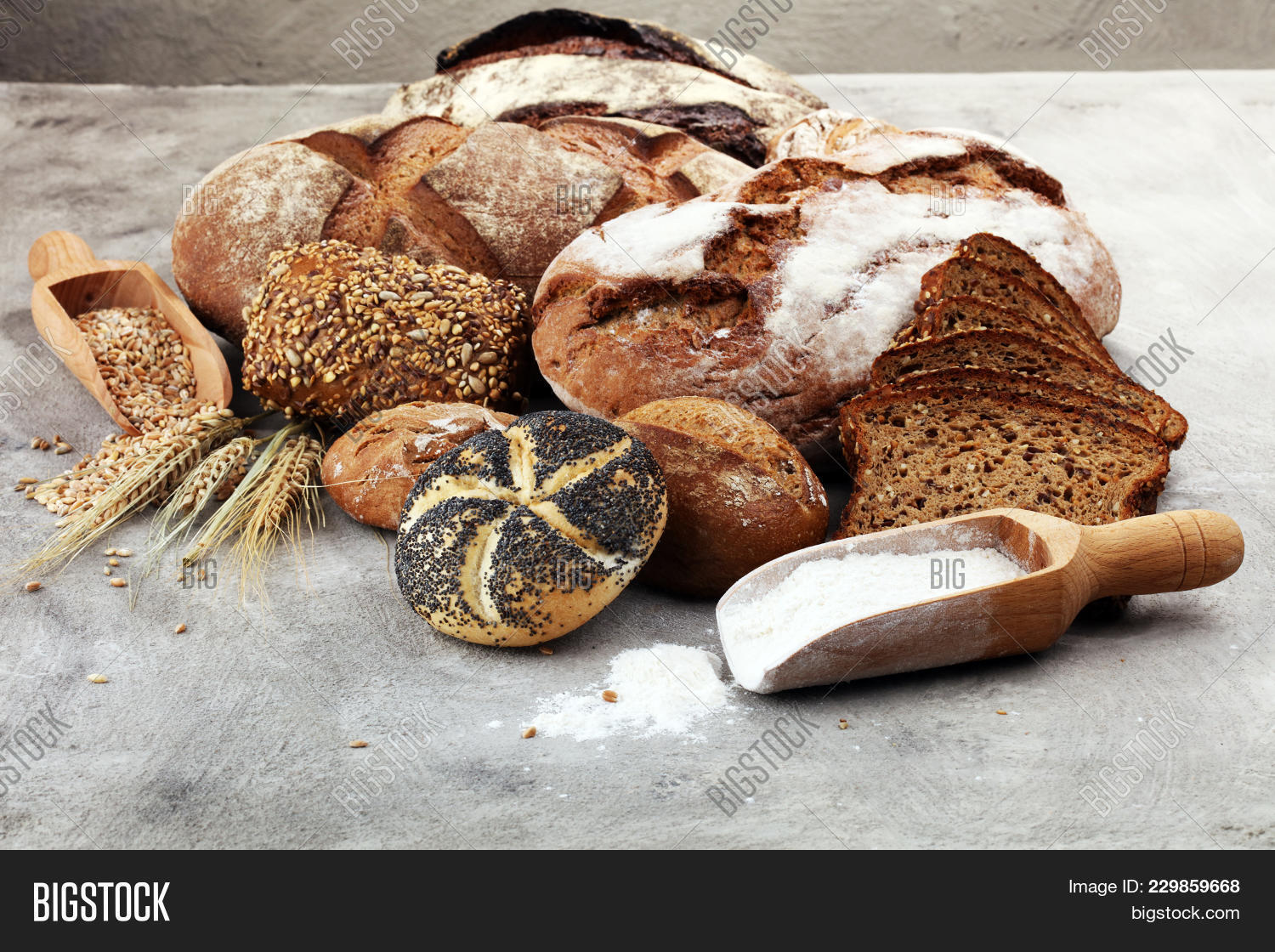 Different kinds of bread powerpoint template different kinds of p toneelgroepblik Image collections