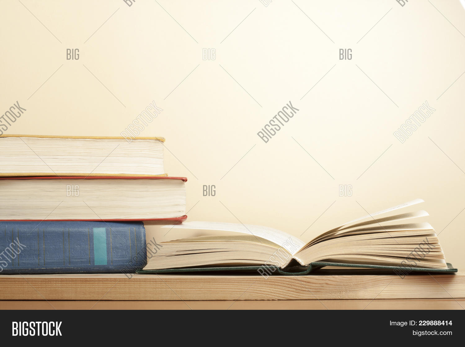 open book and stack powerpoint template open book and stack