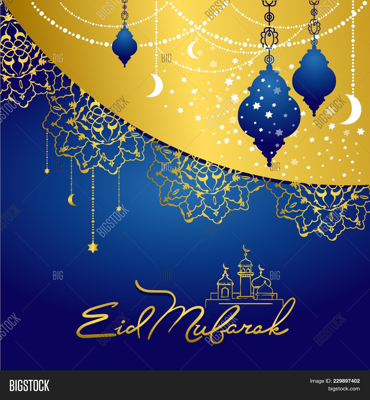 Eid mubarak greeting image photo free trial bigstock eid mubarak greeting card illustration muslim festival celebration poster islamic holiday poster w m4hsunfo