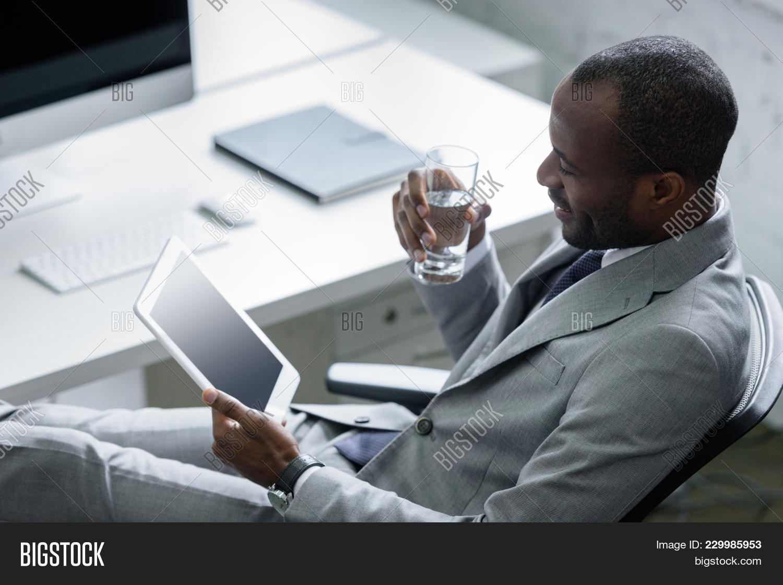 Businessman african american glass powerpoint template businessman professional powerpoint template 60 slides toneelgroepblik Image collections