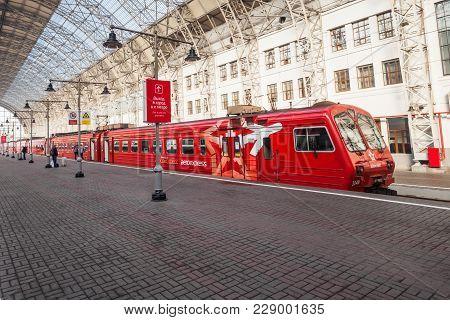 Moscow, Russia - September 15, 2015: Kiyevsky Railway Terminal Also Known As Moscow Kiyevskaya Railw