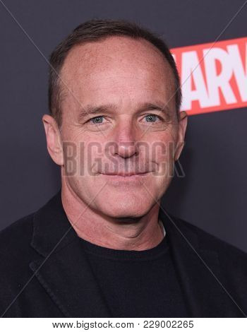 LOS ANGELES - FEB 24:  Clark Gregg arrives for the Marvel's Agents of S.H.I.E.L.D.100th Episode Celebration on February 24, 2018 in Hollywood, CA