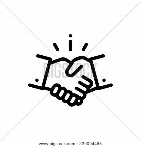 Hand Shake Icon Isolated On White Background. Hand Shake Icon Modern Symbol For Graphic And Web Desi