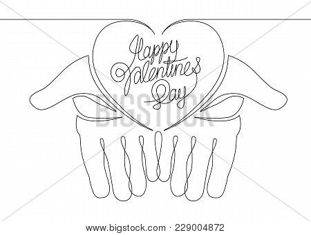 2732423 Continuous Line One Hand Heart