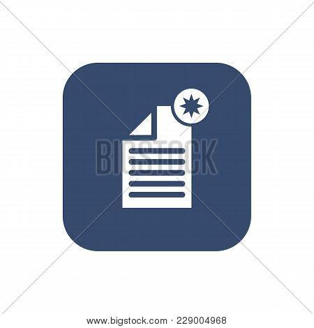 -create Document- Icon. Flat Design. Vector Illustration