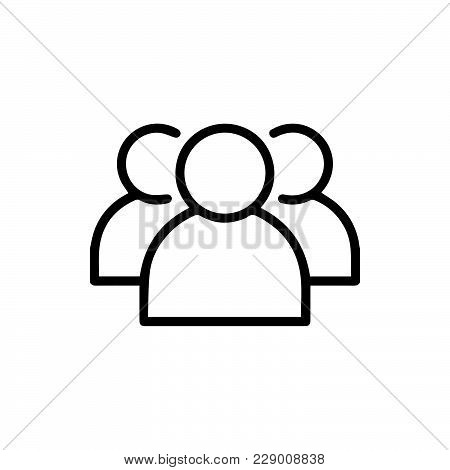 Group Team Icon Isolated On White Background. Group Team Icon Modern Symbol For Graphic And Web Desi