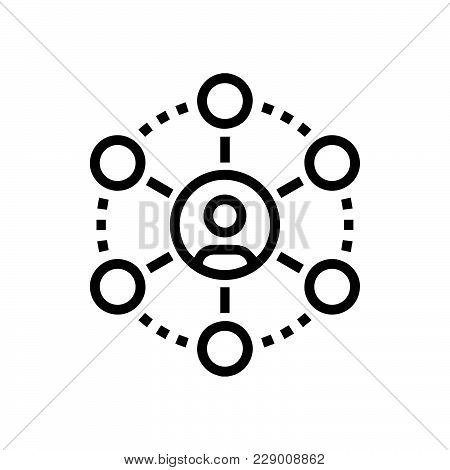 Networking Hierarchy Icon Isolated On White Background. Networking Hierarchy Icon Modern Symbol For