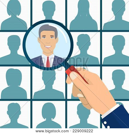 Human Resources Management Select Employee. Recruitment, Concept Of Human Resources Management. Cv A
