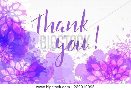 Thank You Floral Background