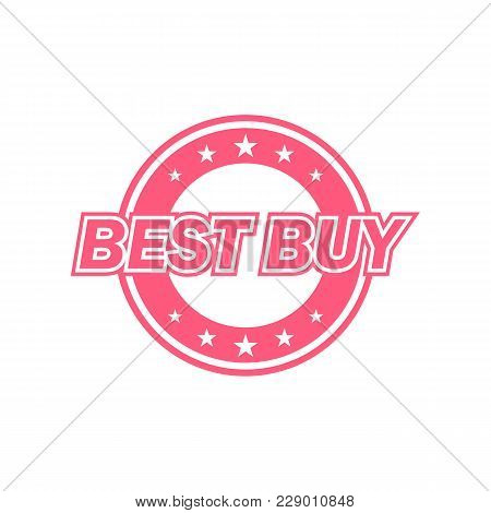 Best Buy Label. Red Color, Isolated On White. Vector Illustration