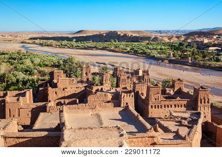 Ait Ben Haddou Is A Fortified City Near Ouarzazate In Morocco. Ait Benhaddou Is A Unesco World Herit