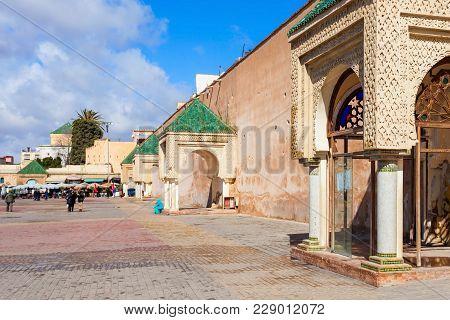 El Hedim Square In Meknes, Morocco. El Hedim Is A Main And Biggest Square In Meknes, Morocco