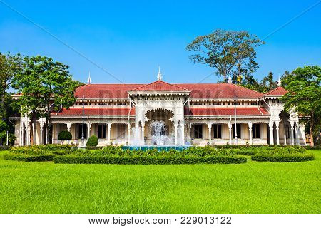 Abhisek Dusit Throne Hall Or The Thai Handicraft Museum Is A Museum Within Dusit Palace In Bangkok,