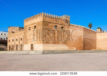 The Kasbah Of The Udayas Fortress In Rabat In Morocco. The Kasbah Of The Udayas Is Located At The Mo