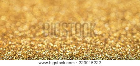 Glitter Golden Bokeh, Golden Background, Golden Light, Glitter Light, Bokeh Background, Abstract Bac