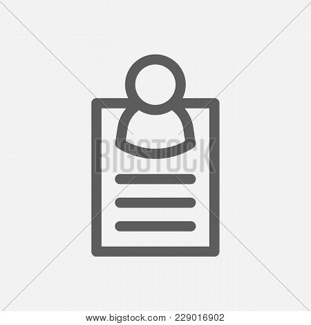 Business Card Icon Line Symbol. Isolated  Illustration Of  Icon Sign Concept For Your Web Site Mobil