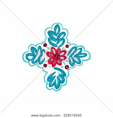 Decorative Folk Pattern Element. Eastern European Print.