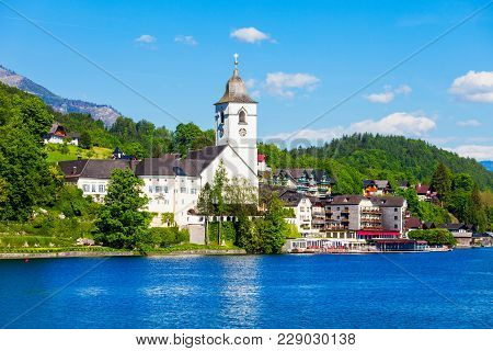 St. Wolfgang Catholic Church Or Pfarrkirchen Wallfahrtskirche In St. Wolfgang Im Salzkammergut, Aust