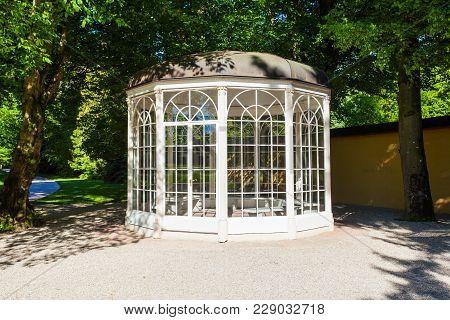 The Sound Of Music Pavilion Near The Hellbrunn Palace Or Schloss Hellbrunn In Salzburg, Austria