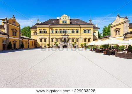 Hellbrunn Palace Or Schloss Hellbrunn In Salzburg, Austria. Hellbrunn Palace Is An Early Baroque Vil