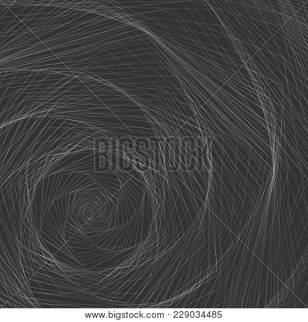 Abstract Background A Whirlwind Of Twisted Spiral Metal Lines Spiral Contour Whirlpool Twist On Dark