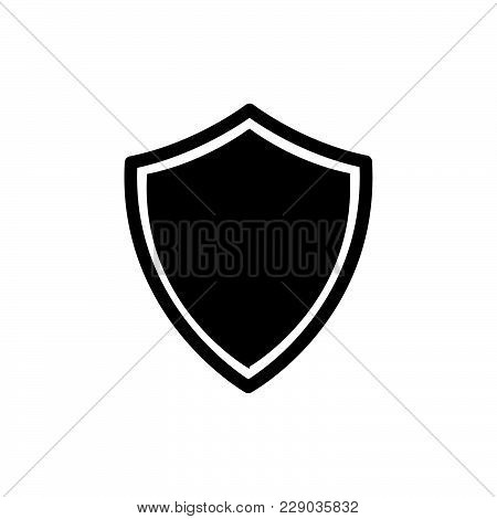 Shield Icon Isolated On White Background. Shield Icon Modern Symbol For Graphic And Web Design. Shie