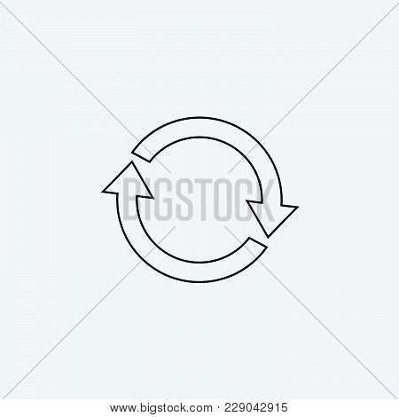 Refresh Line Icon Vector Illustration. Isolated Sync Line Symbol. Sync Line Icon Concept. Rotation E