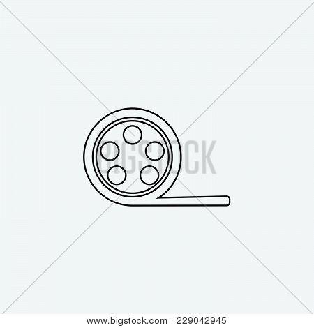 Film Strip Photograms Icon Vector Illustration. Cinema Strip