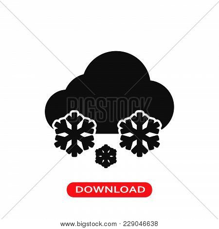 Snow Weather Icon Vector In Modern Flat Style For Web, Graphic And Mobile Design. Snow Weather Icon
