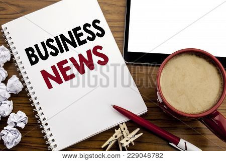 Conceptual Hand Writing Text Caption Inspiration Showing Business News. Business Concept For Modern