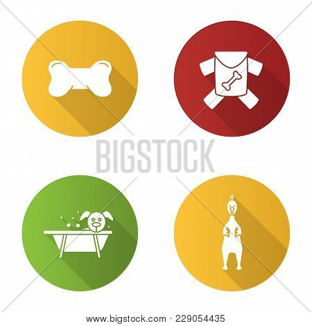 Pets Suuplies Flat Design Long Shadow Glyph Icon