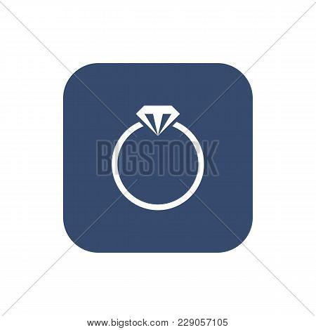 Ring Icon. Flat Ui Design. Vector Illustration