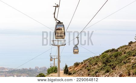 A Photograph Of The Stair Lift Ascending And Descending From The Heights Of Spain! I Captured The Su