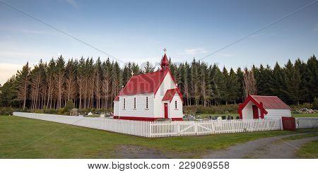 Waitetoko Church At Waitetoko Marae Is An Old Maori Church Near Turangi In Taupo District, Waikato,