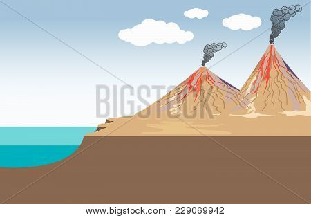 Volcano Is A Rupture In The Crust Of A Planetary-mass Object, Such As Earth, That Allows Hot Lava, V