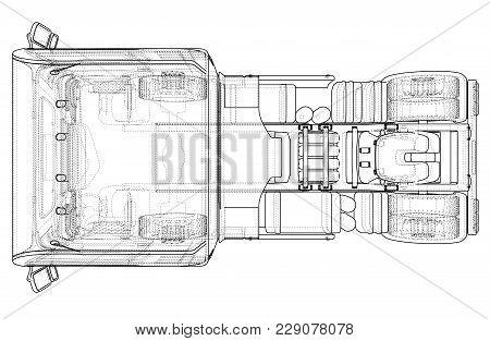 229078078 top view cargo truck vector & photo (free trial) bigstock